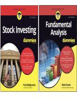 Bộ Sách Stock Investing for dummies và Fundamental Analysis for dummies 2nd